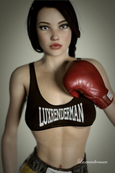 Mia - Poster Girl by luxrenderman