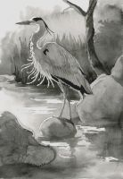 The heron by PetStudent