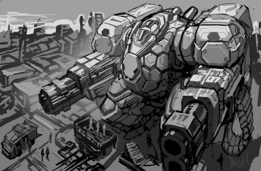 The Round Shield - Mech by ShadCarlos