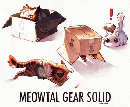 Meowtal Gear Solid by nakanoart