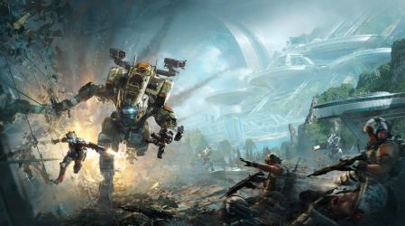 Titanfall 2 box cover pano by 2buiArt