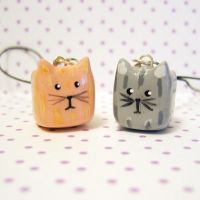 cube kitty cat charms by coonies