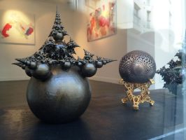 3D printed fractal sculptures showcased by bib993