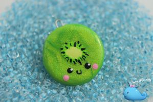 Kiwi Necklace by NaughtyBirdBoutique
