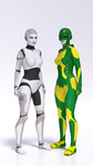 Robot with and without special suit by hhemken