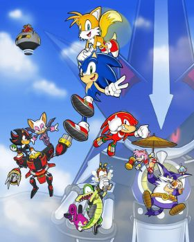'We're Sonic Heroes' by E-122-Psi