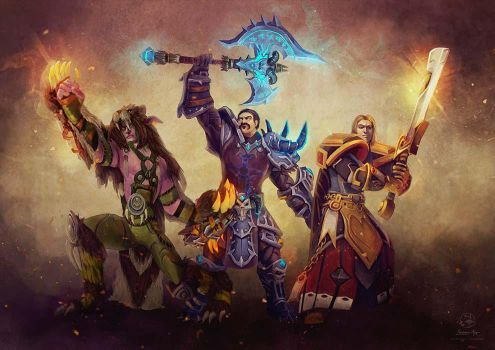 Commission: World of Warcraft Alliance by LenamoArt