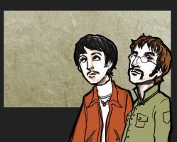 Beatles: Paul and John by lorainesammy