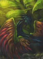 Forest Dragon by SaraLynArt