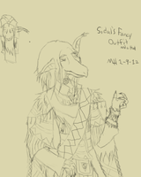 Sidal's Fancy outfit and a random hat-SKETCH by Markus-The-Madman