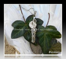 'Vial of Moonlight'  sterling silver pendant by seralune