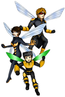 Hymenopteroid Family by BlizzardCaster