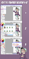 How to do a transparent background in SAI???