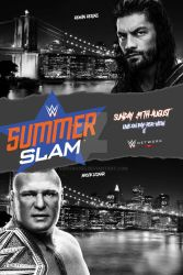 WWE Summerslam 2018 Poster by SidCena555