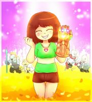 Chara and the Infinity Gauntlet by MasterOhYeah