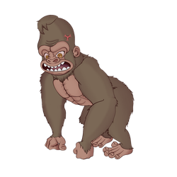 Angry Gorilla by tamygm21