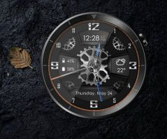 Carbon Gears Watch HD (animated) for xwidget by Jimking
