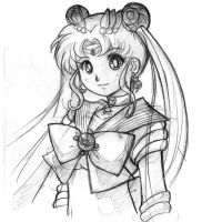 Sailormoon sketch by Hadibou
