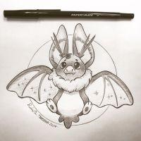 Inktober Day 26: Bat by TsaoShin