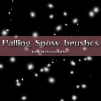 Falling Snow brush by KittyScorpiaNoa by Autumns-Muse