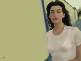 Liv Tyler - Speed Painting by Indigohx