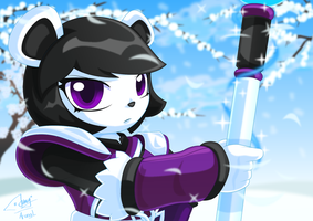Neera the Frost Knight Wallpaper by Arung98