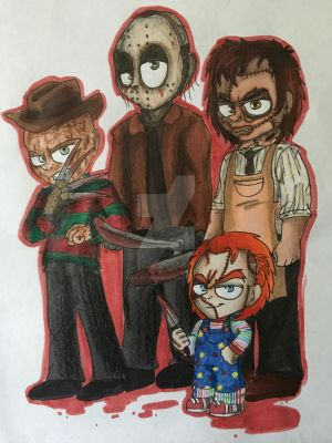 The bloody bunch by Mika-Raccoon