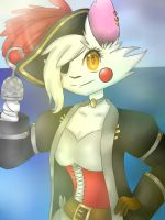 Mangle the pirate fox by SweetZoey