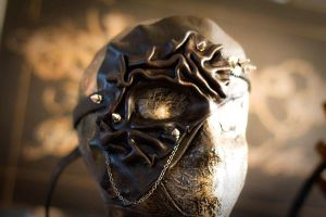 Wrinkled Leather Half Mask by OsborneArts