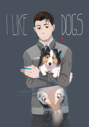 i like dogs by azzai