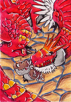 Tyrantrum and Tyrunt by Antaie