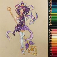 Star Guardian Janna - Traditional Fanart by Josilix
