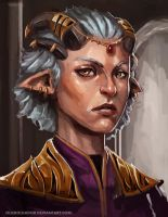 Queen Lania of the Fauns by Olieart