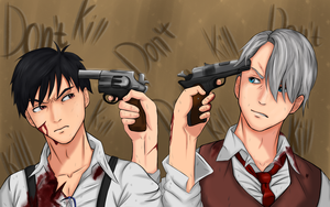 Yuri on ice and 91Days  (Mafia AU) by AmatsuM