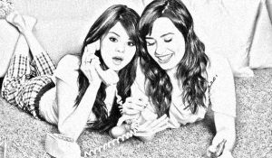 Demi lovato And Selena Gomez by Partsmissing