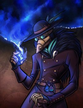 Steampunk Plague Doctor by lunajile