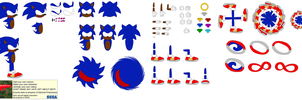 Character Builder- Afro Sonic the Hedgehog by Mryayayify