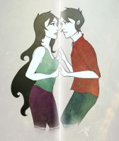 Marceline and Marshall Lee by vivies-q