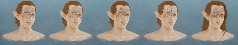 [Commission] Revas Lavellan - character evolution by elyhumanoid