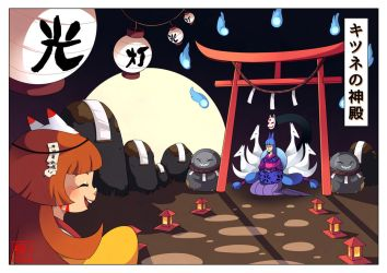 The kitsune temple by Willow-San