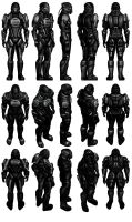 Mass Effect 2, Male Eclipse Merc Reference. by Troodon80
