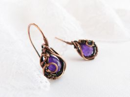 Earrings Grapes by UrsulaJewelry