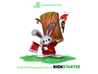 Daily 1312. Lumber Jackrabbit by Cryptid-Creations