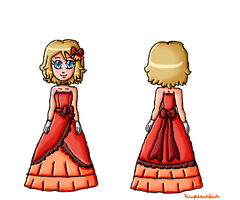 Serena dress front and back by ninpeachlover