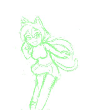 Random Sketch 216: Kitty Artina by BigRinth