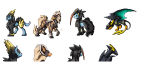 fusemon sprites set 1 by bolthound