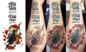 Dark Tower Tattoo Progression II by shokxone-studios