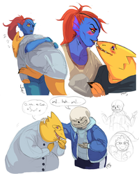 Alphys Sketch Dump 2 by PancrythePancreas5