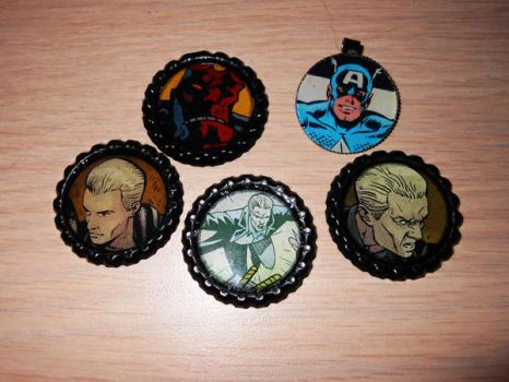 High Class Comic Pendants by RavynCrescent