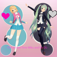 -TDA School Time Miku and Rin DL- by Sushi-Kittie